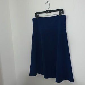 LULAROE - Royal Blue Azure Skirt